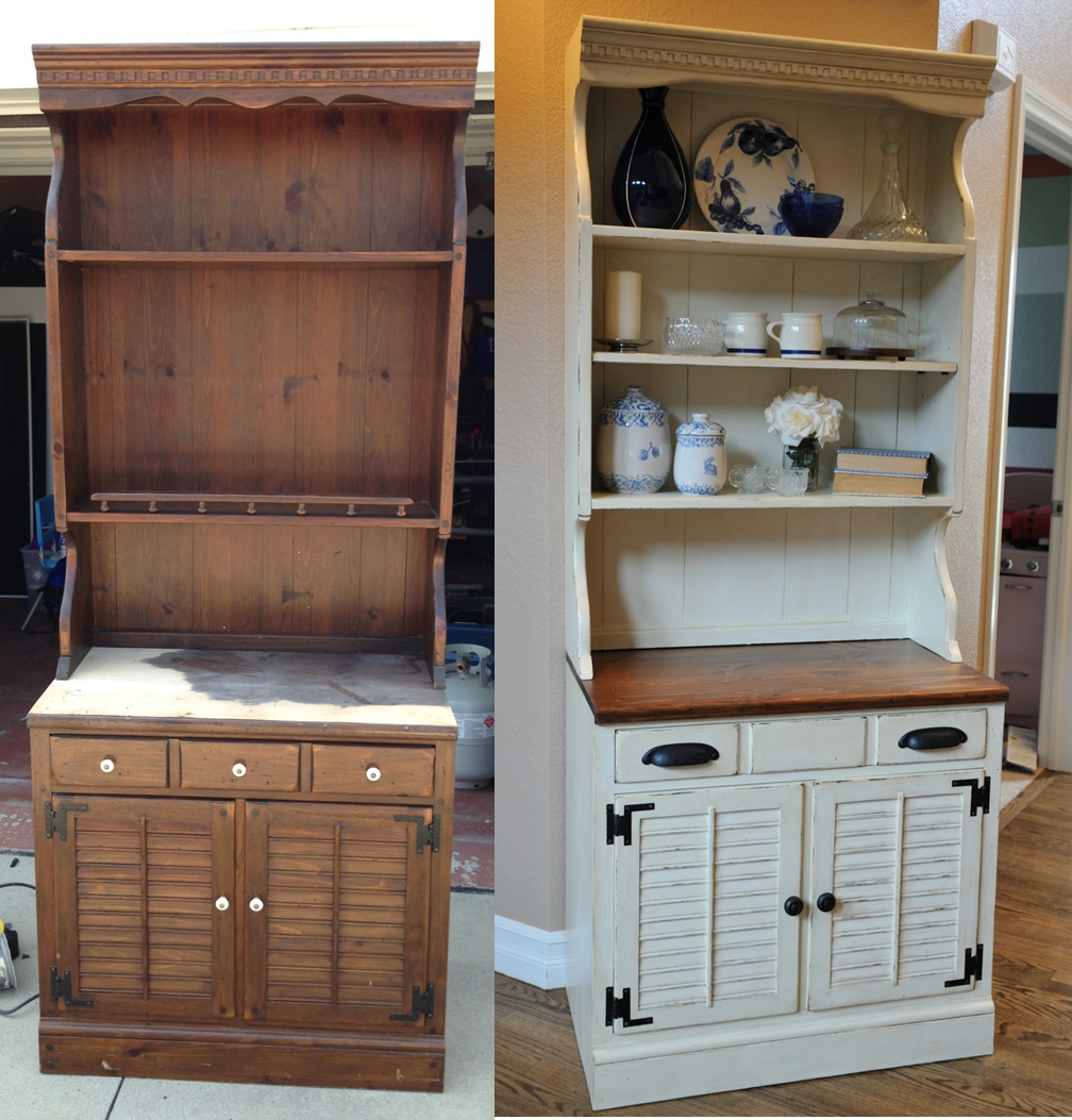 Painting Decorating Wirral Before After Resurfacing: Distressed Hutch