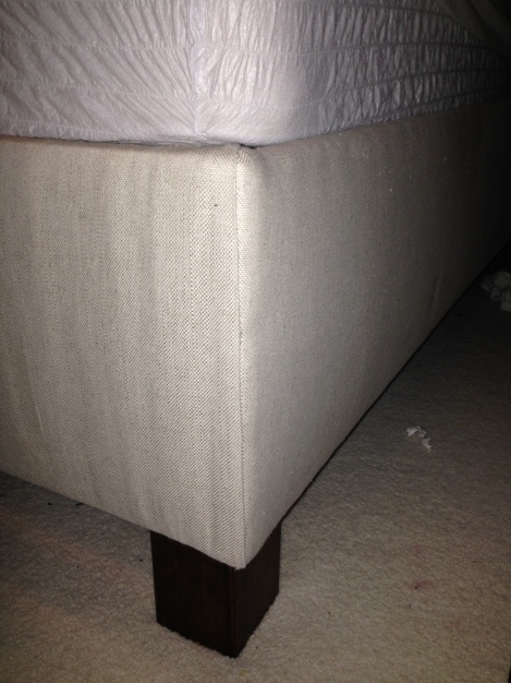 Folded edge of bed