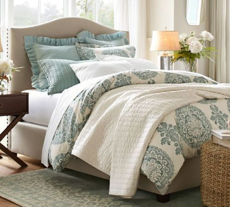Pottery Barn Raleigh Upholstered Bed