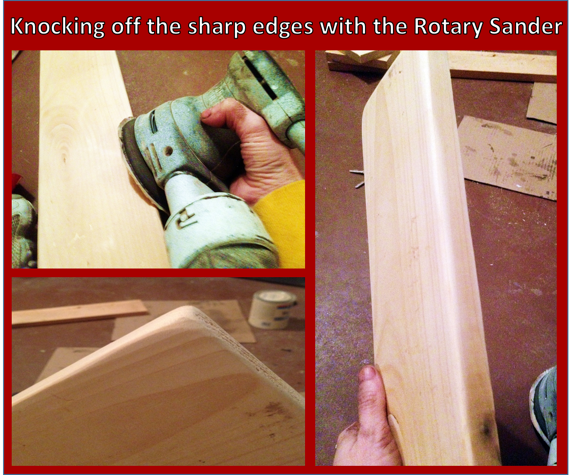 Sanding edges with rotary sander-RebeccaPC