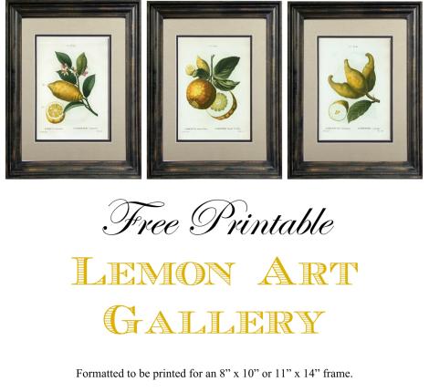 Free Printable Lemon Art Gallery