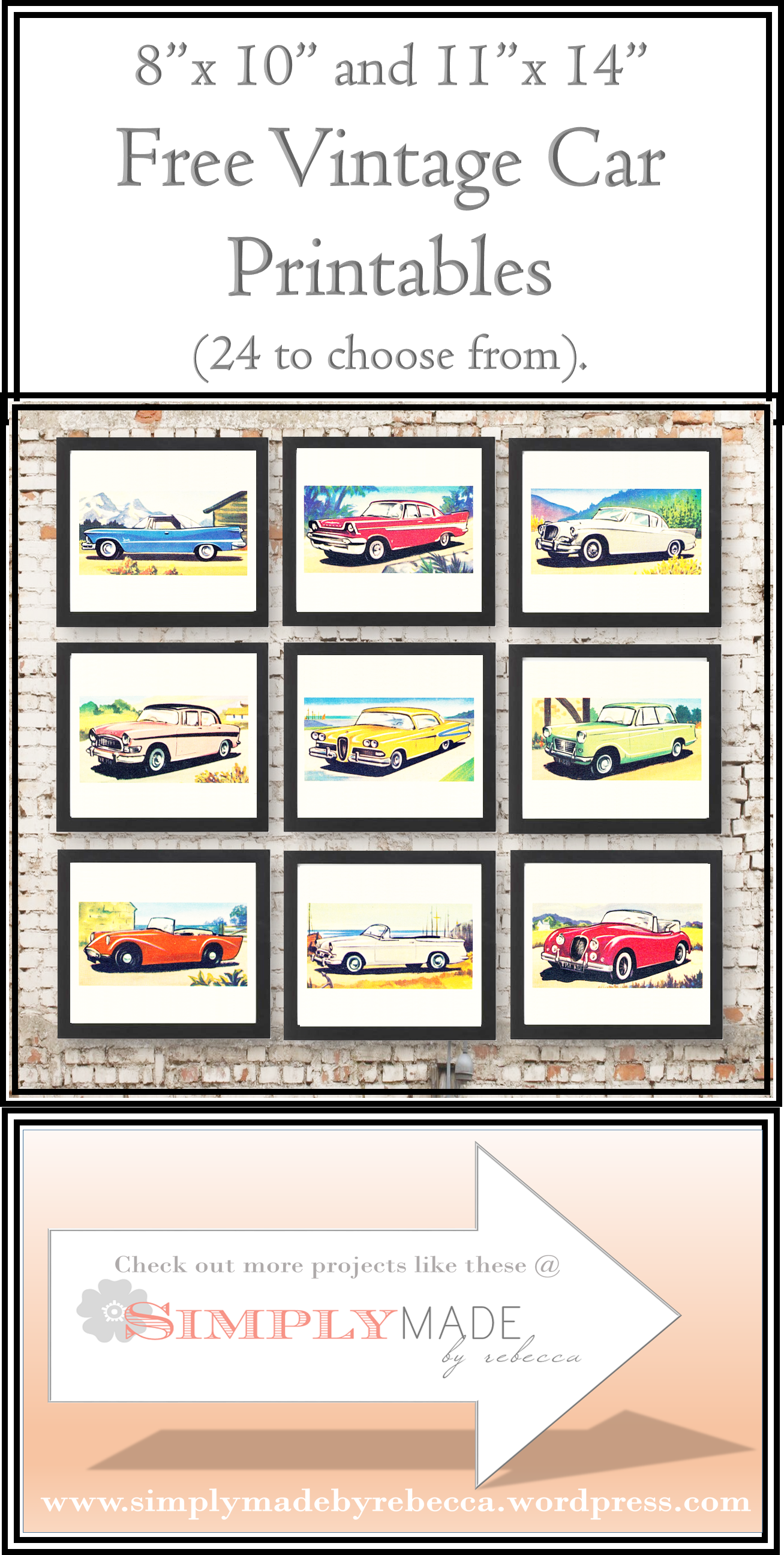 image regarding Free Vintage Printable referred to as Free of charge Classic Car or truck Printables