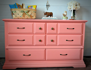 Coral Dresser with Brass Pulls_1
