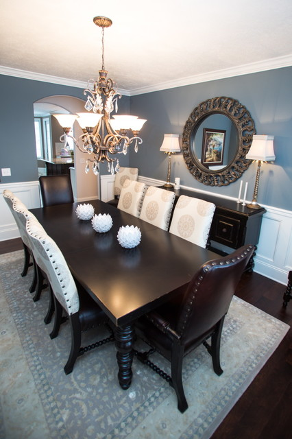 Perfect shades of navy blue paint simply made by rebecca for Navy dining room ideas