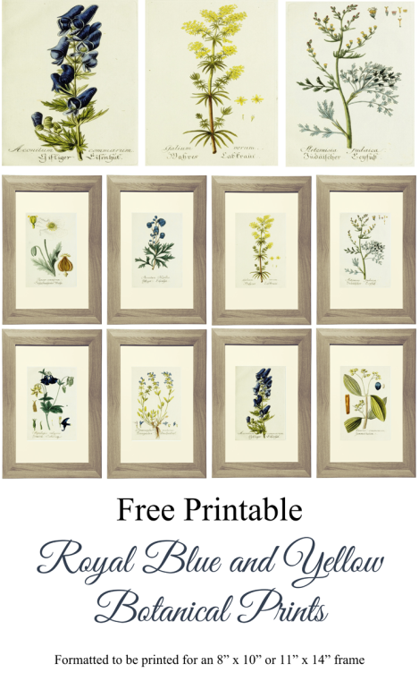 Blue and yellow Gallery Wall Printable Art