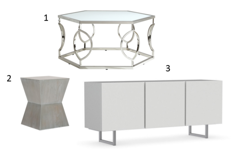 Silver and White Furniture Grouping