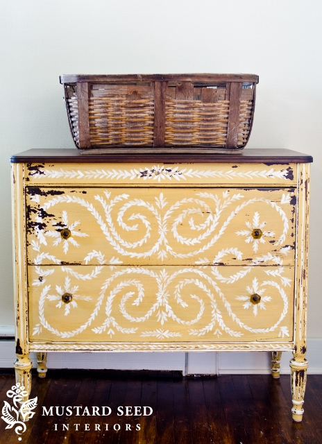 1mustard-seed-yellow painted dresser