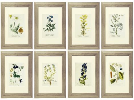 Royal Blue and Yellow Botanical Printable Gallery Wall