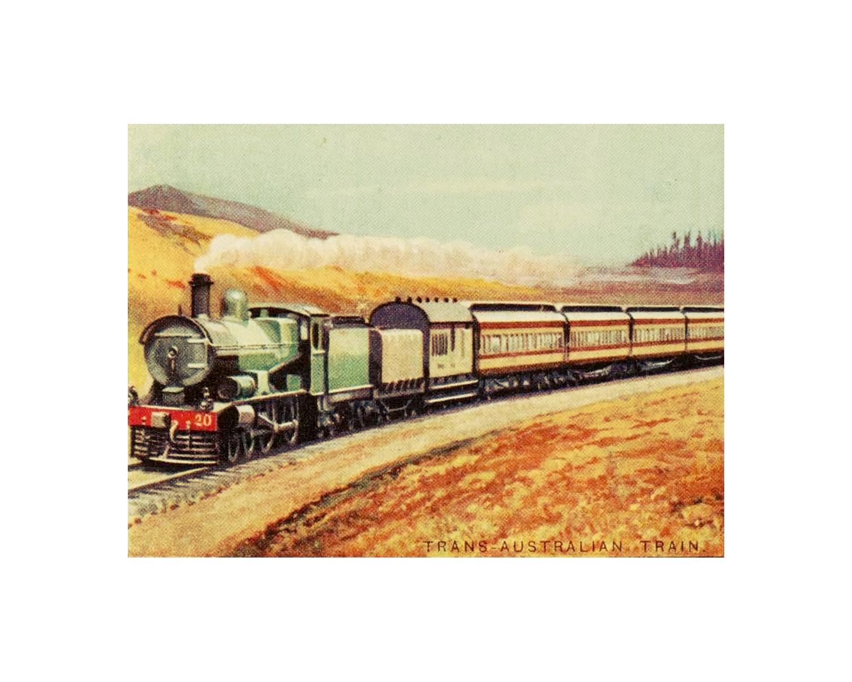 Free Printable Vintage Train Art