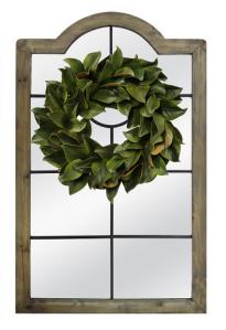 Windowpane mirror and Wreath